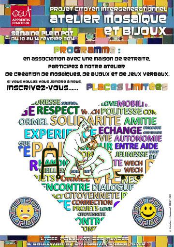 """Affiche """"semaine plein pot"""" pour les Orphelins Apprentis d'Auteuil"""