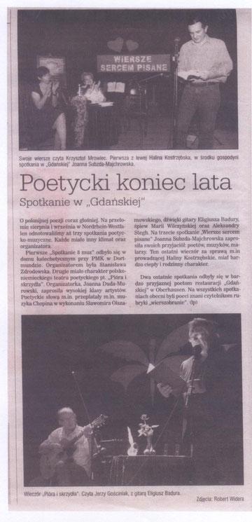 """""""Samo życie"""" nr 19(335) 25.9-8.10.2010 w rubryce """"Z życia Polonii w Niemczech"""