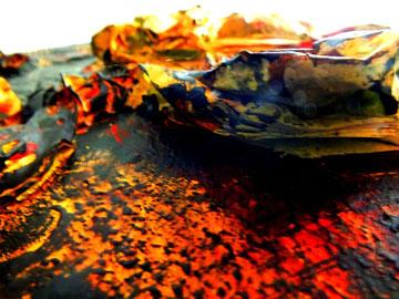 flammende liebe, Acryl und Materialmix, Juli 2012, als Druck erhältlich (Größe variabel)
