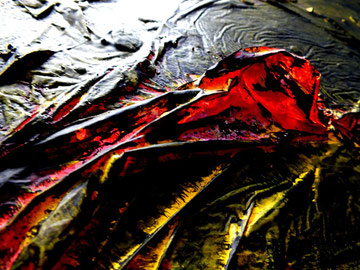 zauberberg, Acryl und Materialmix, Juli 2012, nur noch als Druck erhältlich (Größe variabel)