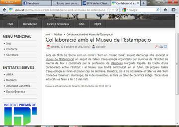 Web de l'institut Premià de Mar (IPM)