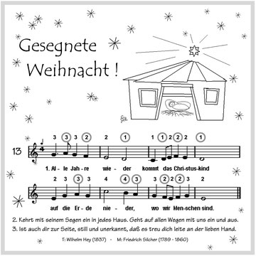 """Noten mit Tabulatur für 4-Kanal-Mundharmonika wie """"Speedy"""" und """"Little Lady""""  (c) E. Stennes-Falter"""