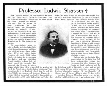 Todesanzeige in der Deutschen Uhrmacher-Zeitung vom16. August 1917