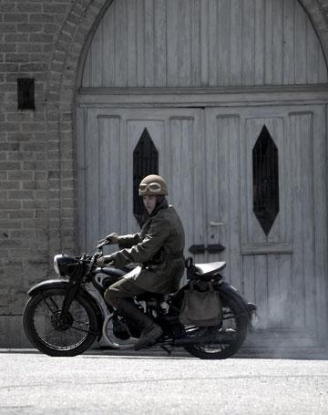 """Même les motocyclettes étaient dans leur """"jus"""" !"""