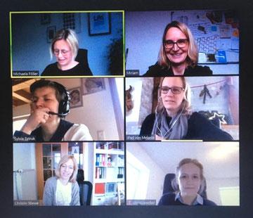 Im Bild (von links oben nach rechts unten): Michaela – Miriam – Sylvia – Melanie – Christin - Clarissa