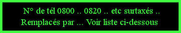 les numéros des appels téléphoniques surtaxés Image