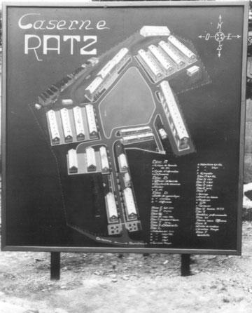 Eingang Kaserne Ratz 1952