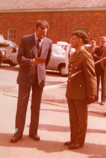 Königsbesuch 1978: hier mit Kolonel Brisy