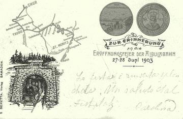 S. Beretta Samedan, gestempelt 28. Juni 1903