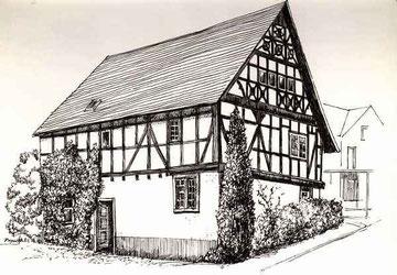 Stadtteil Odersbach Zeichnung: D. Boger, Weilburg