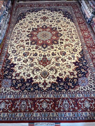 ESFAHAN wool&silk 2x3 BAGHER SEIRAFIAN