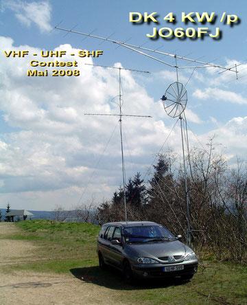 portable QTH Schneckenstein 883m asl