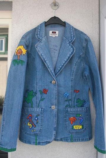 Jeansjacke handbemaltes Unikat