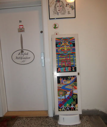 Atelier Eingang einmal anders