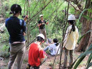 園田氏による母島での外来種駆除の現状と課題等についての解説