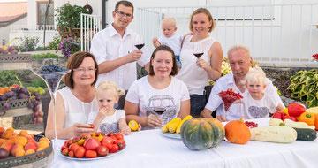 Cornelia, Marlene, Adalbert, Eva and Katharina