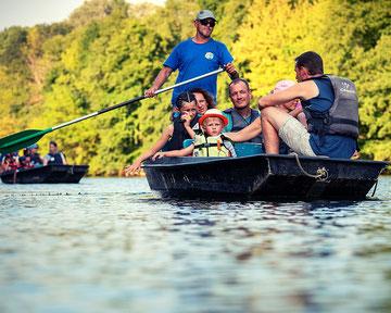 Découverte des castors en barque, en sud Ardèche