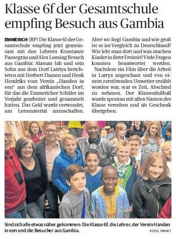 Rheinische Post Dienstag, 22. September 2015