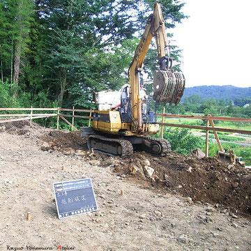 深基礎は崖地でよく採用される基礎の方法の1つです.