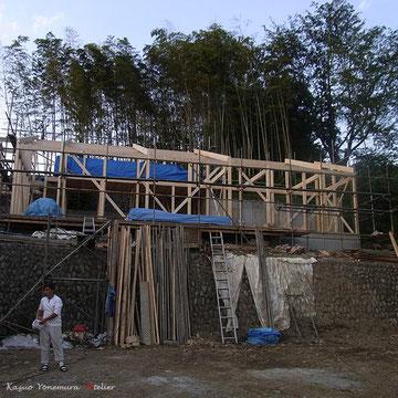 B棟の建て方が終わった所です