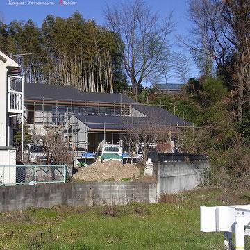 A棟、B棟の屋根も葺き上がり2つの建物の一体感が確認出来ます