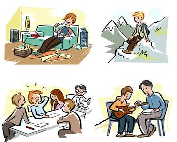 Schulbuchillustrationen