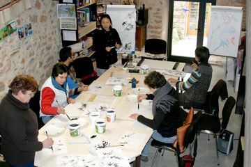 Peinture Chinoise: Les Bambous