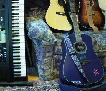 YAMAHA KEYBOARD and three of my guitars