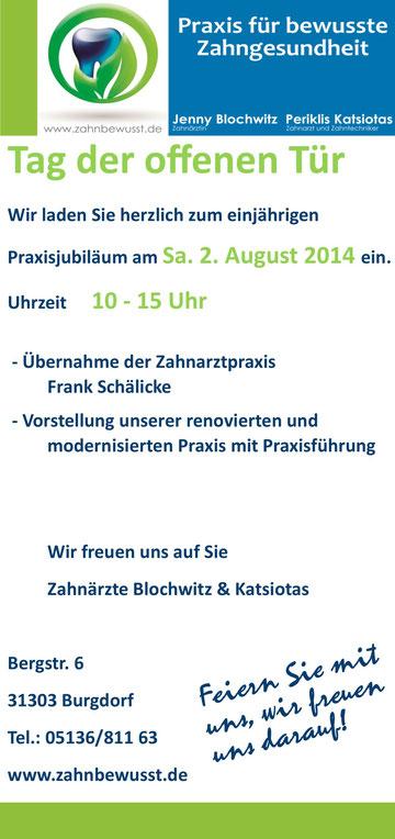 Tag der offenen Tür - Zahnärzte Blochwitz und Katsiotas Burgdorf
