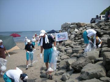 海岸清掃、開始!!