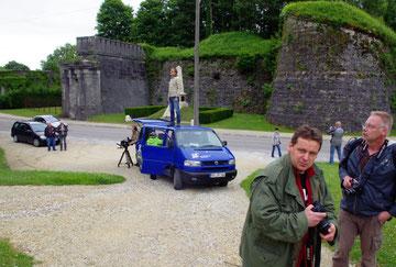 Zitadelle - Auch hier wurde außerhalb (Park der Marschälle) gedreht. Rechts: Marcus Massing und Stephan Klink