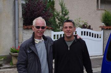 Ein Abschiedsfoto mit meinem Freund Karle