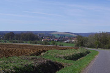 Blick auf Damvillers - Die deutschen Ausgangsstellungen befanden sich nur wenige Kilometer südlich