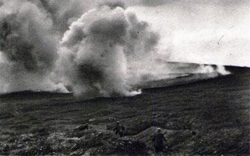 schwerer Artilleriebeschuss im Bereich Froideterre-Fleury-Souville-Tavannes 21.6.16
