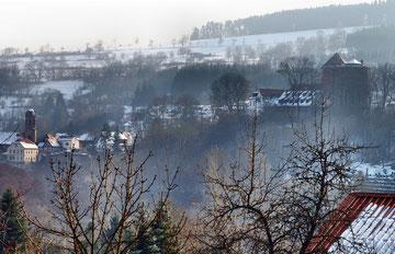 die Burg Rieneck im Winter