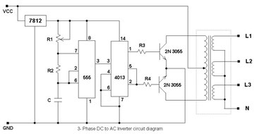 3-Phase DC to AC - livecard Electrical/Electronics