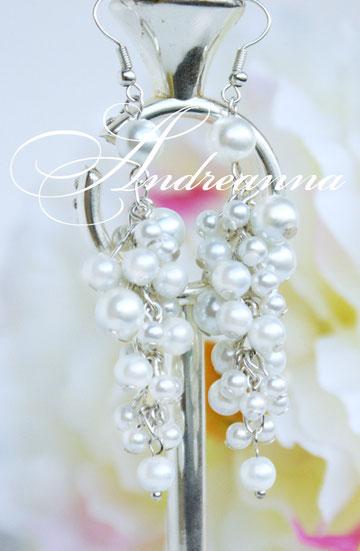 Серьги жемчужный дождь, стоимость 200 грн (цвет белый/серебро) (в любом цвете, фурнитура золото/серебро/медь).