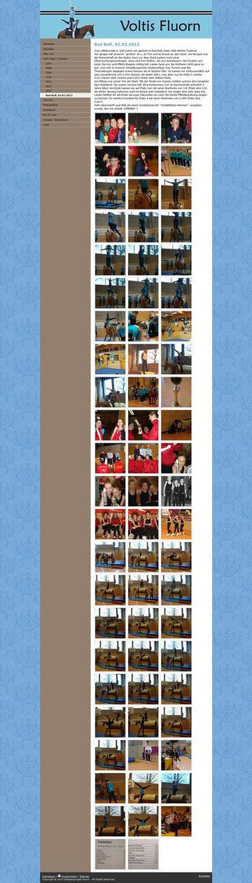 Bericht und Bilder auf der Homepage der Voltis Fluron
