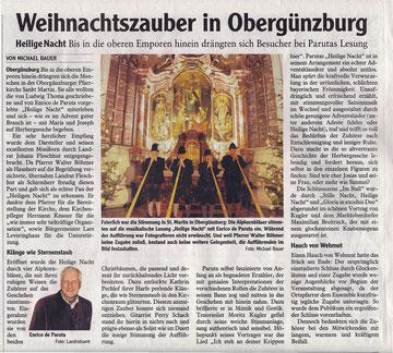 Allgäuer Zeitung vom 22.12.2012