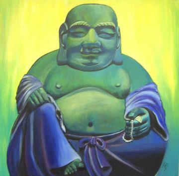Buddha Acryl auf Leinwand 80x80cm