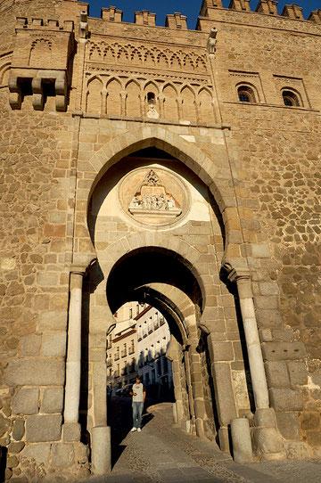 Photographie, Espagne, Mancha, Tolède, porte arabe, architecture militaire, voyages, vacances, Mathieu Guillochon.