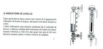 Classico indicatore di livello a rifrazione - solitamente installato su caldaie a tubi da fumo o comunque fino a 20-25 bar