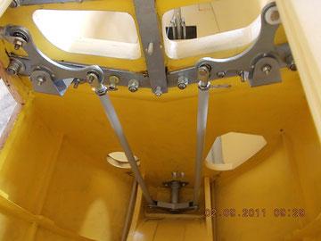 Aileron bellcranks and pushrod installation