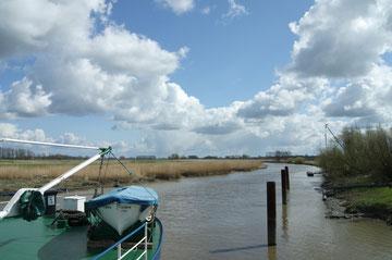 Wischhafener Süderelbe mit tollen Wolken