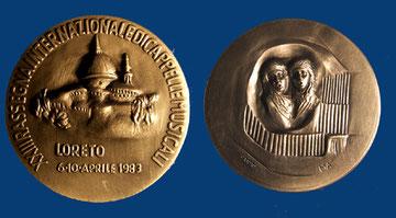 La plastica medaglia della 23^ Rassegna Internazionale di Cappelle Musicali -  anno 1983