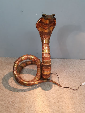 lampe cobra de richard faure sculpture laiton
