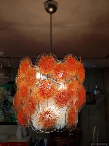 VISTOSI MURANO grand lustre 63 disques de verres