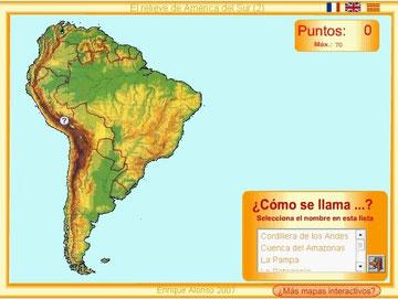 Mapa Interactivo De America Del Sur Fisico.America San Jose Geografico