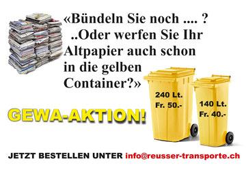 GEWA-Aktion - Reusser Transporte AG Biberist
