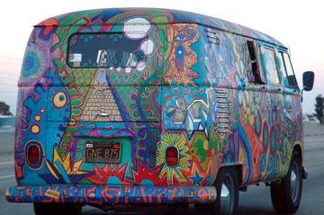 T1b hippiebus, de 2 zijramen zijn niet origineel